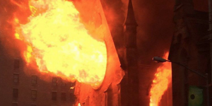 NYC church fire